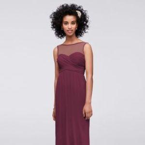 Wine bridesmaid dress - like new!